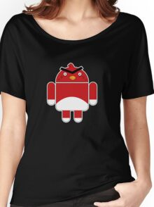 Droidbird (red bird) Women's Relaxed Fit T-Shirt