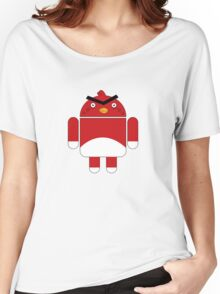 Droidbird (red bird) Women's Relaxed Fit T-Shirt