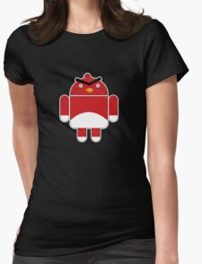 Droidbird (red bird) Womens Fitted T-Shirt