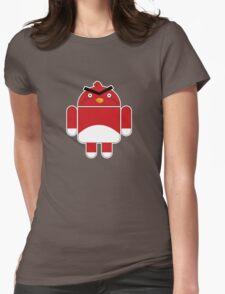 Droidbird (red bird) Womens Fitted T-Shirt