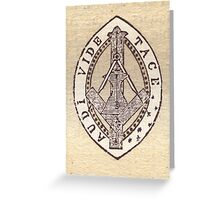 Masonic Vesica Piscis symbol Greeting Card