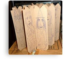drawings on cardboard inserts, photo #1 Canvas Print