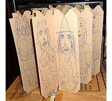 drawings on cardboard inserts, photo #1 Photographic Print