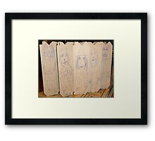 drawings on cardboard inserts from liquor carton, photo #2 Framed Print