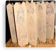 drawings on cardboard inserts from liquor carton, photo #4 Canvas Print