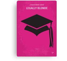 No301 My Legally Blonde minimal movie poster Canvas Print