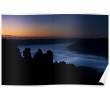 First Light at Echo Point, Katoomba Poster