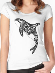 Killer Whale Women's Fitted Scoop T-Shirt