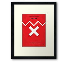 No304 My SIN CITY minimal movie poster Framed Print