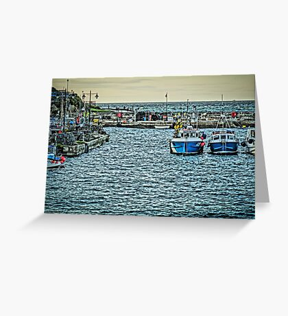 Newquay Harbour At High Tide Greeting Card