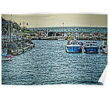 Newquay Harbour At High Tide Poster
