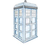 Tardis in Blue by KiGee