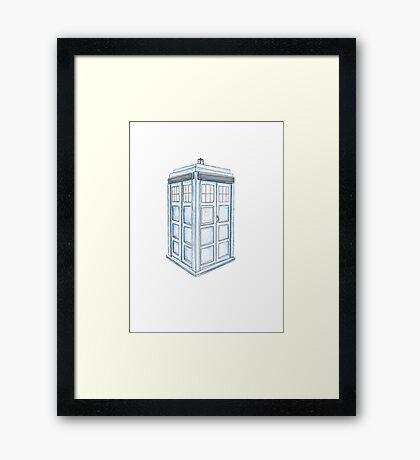 Tardis in Blue Framed Print