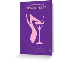 No308 My Sex and the City minimal movie poster Greeting Card
