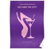 No308 My Sex and the City minimal movie poster Poster