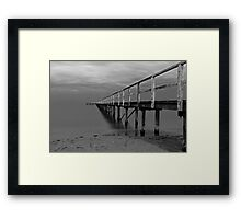 The Baths Pier BW Framed Print