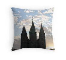 Dusky Temple Throw Pillow