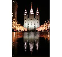 Christmas Temple Photographic Print