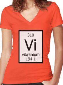 Vibranium Women's Fitted V-Neck T-Shirt