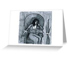 PONDERING OF THOUGHTS Greeting Card