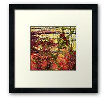 """""""Garden Wall"""" Framed Print"""
