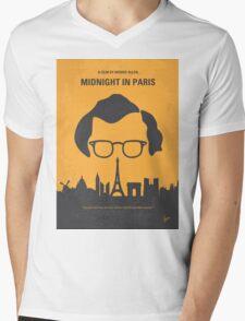 No312 My Midnight in Paris minimal movie poster Mens V-Neck T-Shirt