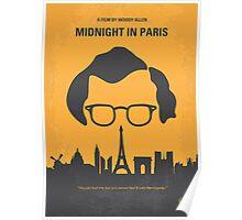 No312 My Midnight in Paris minimal movie poster Poster
