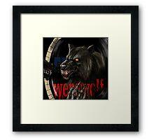 werewolf mirror  Framed Print