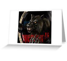 werewolf mirror  Greeting Card
