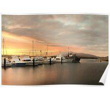 Sunset - Bermagui Harbour Poster