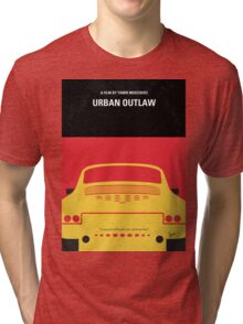 No316 My URBAN OUTLAW minimal movie poster Tri-blend T-Shirt