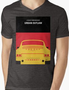 No316 My URBAN OUTLAW minimal movie poster Mens V-Neck T-Shirt