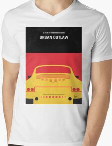 No316 My URBAN OUTLAW minimal movie poster Mens V-Neck T-Shirt