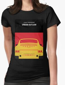 No316 My URBAN OUTLAW minimal movie poster Womens Fitted T-Shirt
