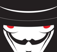 No319 My V for Vendetta minimal movie poster Sticker