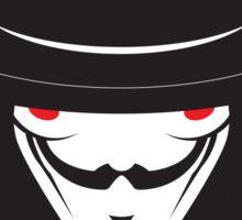 No319 My V for Vendetta minimal movie poster Sticker