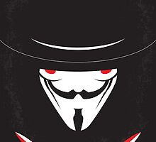 No319 My V for Vendetta minimal movie poster by JinYong