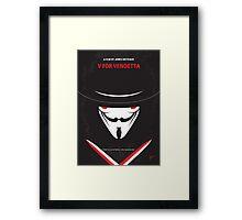 No319 My V for Vendetta minimal movie poster Framed Print