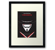 No319 My V for Vendetta minimal movie poster Framed Print