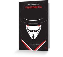 No319 My V for Vendetta minimal movie poster Greeting Card