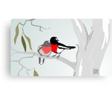 Scarlet Robins in Love Canvas Print