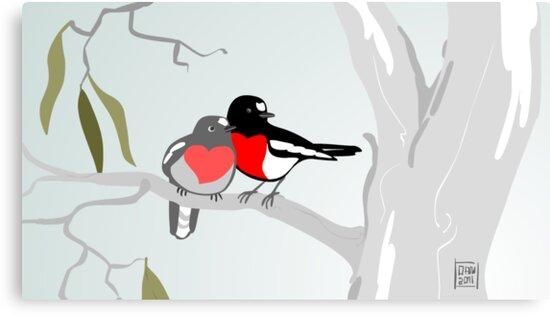 Scarlet Robins in Love by Dan & Emma Monceaux