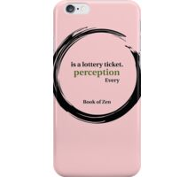 Quote About Reality & Perception iPhone Case/Skin