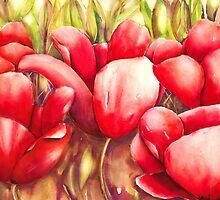 Dancing Tulips by Kaye Miller-Dewing