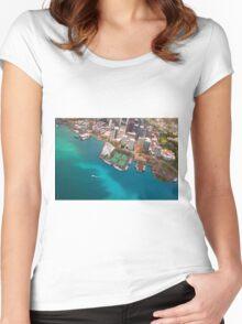 Honolulu City, Oahu, Hawaii Women's Fitted Scoop T-Shirt