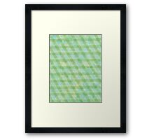 Green rhomb tape and water color - OneMandalaAday Framed Print