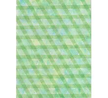 Green rhomb tape and water color - OneMandalaAday Photographic Print