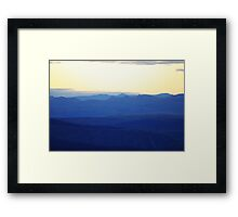 Blue Wilderness, As Far As The Eye Can See Framed Print
