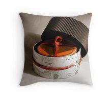 Symbolic M. - opened box Throw Pillow