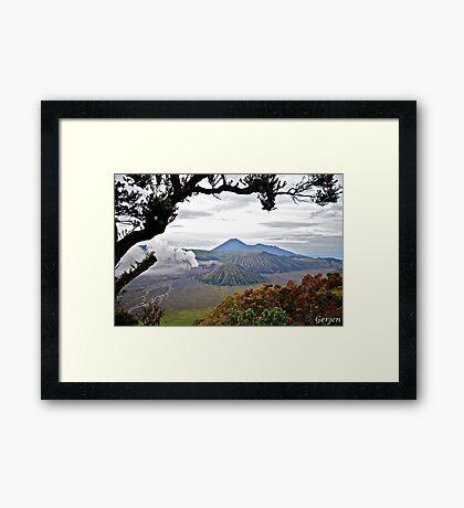 Mount Bromo Framed Print